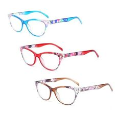 Women Vintage Cat Eye Reading Glasses Reader +1.0-+4.0 Fashion Flower Print