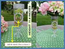 Set of 3 Glass Cylinder Wedding vase  Centerpiece personalized Elegant and cute
