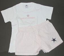NWT! NFL DALLAS COWBOYS Ladies Womens T Shirt Boxer PJ Sleepwear Set L