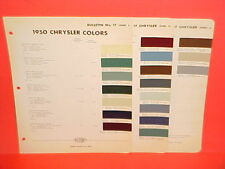 1950 CHRYSLER IMPERIAL SARATOGA NEW YORKER WINDSOR CONVERTIBLE ROYAL PAINT CHIPS