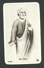 Estampa antigua de San Pedro santino holy card image pieuse