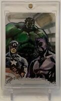 CAPTAIN AMERICA HULK BLACK PANTHER MASTERPIECES MARVEL SKETCH AUTO ART CARD 1/1