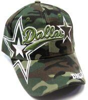Dallas City Camo Hat Cap Script Visor Embroidered Signature Double Cowboys Star