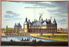 Gravure Kupferstich Print Caspar MERIAN Topographia Galliae Château de Tanlay