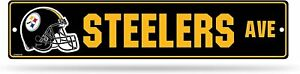 Pittsburgh Steelers NFL Street Sign 5 x 24-inches