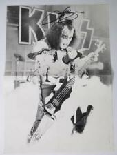 Gene Simmons KISS Signed Autograph 11x16 Poster