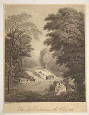RARE Gravure Vue environs de CLISSON NANTES LOIRE ATLANTIQUE PICOU CHOLET 1820