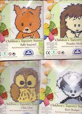 Pack of 4 DMC Woodland Folk Tapestry Starter Packs