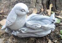 Latex  bird w nest plaster concrete mould casting garden rubber mold