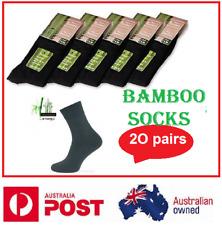 20 Pairs BAMBOO SOCKS Men's Heavy Duty Premium Socks Cushion BULK