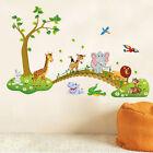 Safari Animals Bridge Wall Stickers Nursery Decor Baby Kids Art Mural Removable