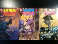 BATMAN VS PREDATOR #1-3 #1 2 3 COMPLETE MINI-SERIES DC DARK HORSE 1991