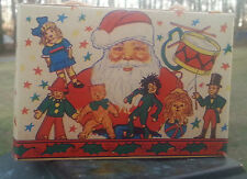 Old Christmas Candy Box with String Handle SANTA CLAUS Toys Jack In The Box USA