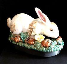 Gorgeous Hand Painted Large Ceramic Bunny Rabbit Figurine; Estate Find; VGC!!!