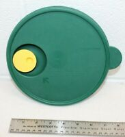 """Tupperware 7 1/2"""" Round GREEN Container Snap Seal Lid ONLY #2649 Replacement"""
