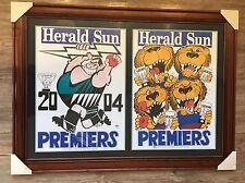 2004 Port Adelaide Power Premiers Poster Original WEG and Losing Brisbane Lions