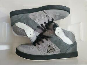 Axion Shoes Atlas Gray Black White MOTO SKATE SHOE sz 10.5