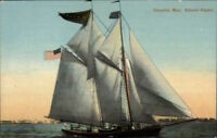 Gloucester MA Schooner Ship Niagara c1910 Postcard