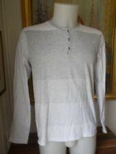 Tee shirt manche longue coton blanc rayé gris CALVIN KLEIN JEANS Taille M