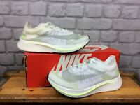 NIKE LADIES UK 6.5 WHITE YELLOW ZOOM FLY SP VOLT GLOW RUNNING TRAINERS £150