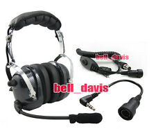 4-081 + 44-y Heavy duty Noise Cancelling Headset for YAESU VX-3R FT-60R