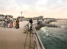 Vintage Edwardian Seaside Photochrome Photo Reprint Bognor Regis 3 A4