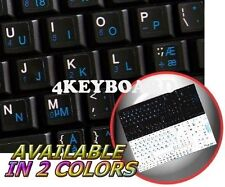 DANISH ENGLISH NETBOOK KEYBOARD STICKER BLACK