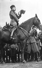 Mussolini on Horseback in Italy 1929 7x4 Inch, Photographic Reprint
