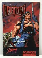 SNES Blackthorne Instruction Booklet Manual Only *Authentic* *No Game*