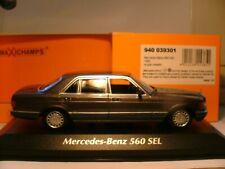SUPERB NEW MAXICHAMPS 1/43 1990 MERCEDES-BENZ 560 SEL (W126) SUPERB DETAIL NLA