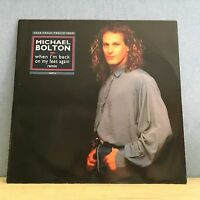 "MICHAEL BOLTON When I'm Back On My Feet Again Remix 1990 UK 12"" vinyl single EXC"