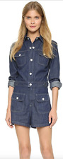 NEW Alexa Chung For Adriano Goldschmied AG Medium Color Denim Romper $345 Sz S