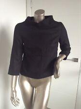 BRAND NEW Black 3/4 sleeve top by NIFE European designer wool blend size 8