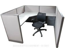 6x6 Herman Miller Low Wall Work Station Office Cubicles With New Paint Amp Fabric
