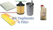 KIT FILTRI TAGLIANDO  + OLIO CASTROL 5W30 VW POLO 1.4 TDI TURBO DIESEL DAL 2005>