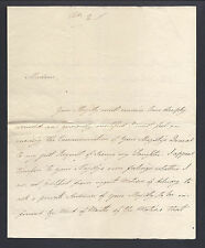 Lady Augusta Murray Signed Letter 1807 to Queen Charlotte An Appeal for Daughter