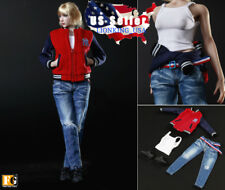 "1/6 Baseball Jacket Clothing Sneakers Set A For 12"" Hot Toys Phicen Figure ❶USA❶"