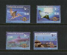Ecuador 2008  #1921-4  fish birds Galapagos sharks  4v.   MNH  J181