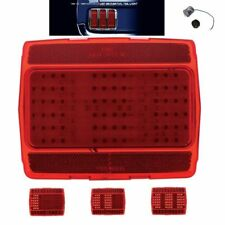 Pair 1964-66 Ford Mustang Sequential LED Tail Lights w/ 1157 Plugs & Flasher