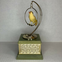 Vintage Canary On Swing Music Box SEE VIDEO Laras Theme Somewhere My Love