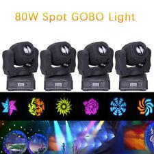4PCS 80W RGBW LED Moving Head Lights  Spot Gobo DMX Club Disco DJ Party Lighting