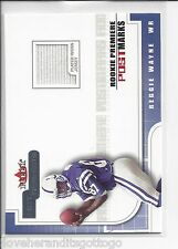 2001 Fleer Hot Prospects Reggie Wayne Serial #'d 1377/1875 Jersey ROOKIE