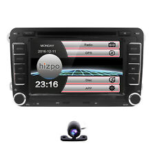 "GPS Navigation With Map Bluetooth Radio 2 Din 7"" Car Stereo DVD Player for VW"