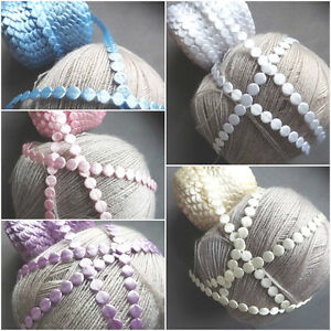 MINI Satin circles trim ribbon CRAFTS sewing trimming scrapbooking pearl florist
