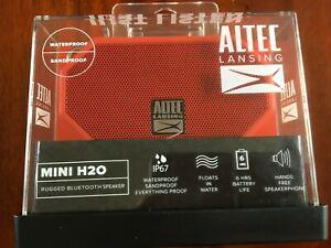 ALTEC LANSING  MINI H2O RUGGED BLUETOOTH SPEAKER with WATERPROOF IP67...