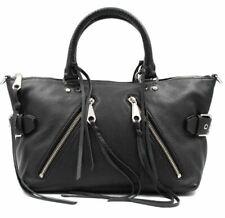 Rebecca Minkoff Full Sized Black Leather Moto Satchel Hs15emos26