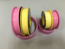 Yellow or Pink Teflon tape 10 Rolls  30 Meter X 12mm Wide or 10 Meter x 12mm