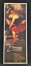 Original 1984 UNTIL SEPTEMBER Movie Poster 14 x 36 ROMANCE IN PARIS
