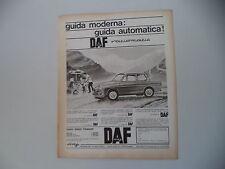 advertising Pubblicità 1965 DAF FODIL DAFFODIL 750