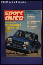 Sport Auto 7/80 R5 Turbo TR 7 BMW 745i 924 GT + Poster